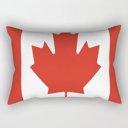 red maple leaf flag of Canada Rectangular Pillow