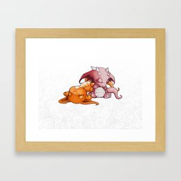 Snoozing Framed Art Print