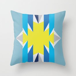 SUN_Yellow Star_Summer - Style Me Stripes Throw Pillow