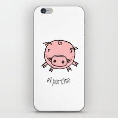 el porcino iPhone & iPod Skin