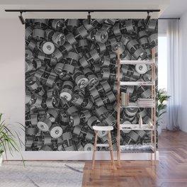 Chrome dumbbells Wall Mural