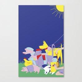 PET PARADE Canvas Print