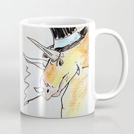 Triceratops in a top hat Coffee Mug