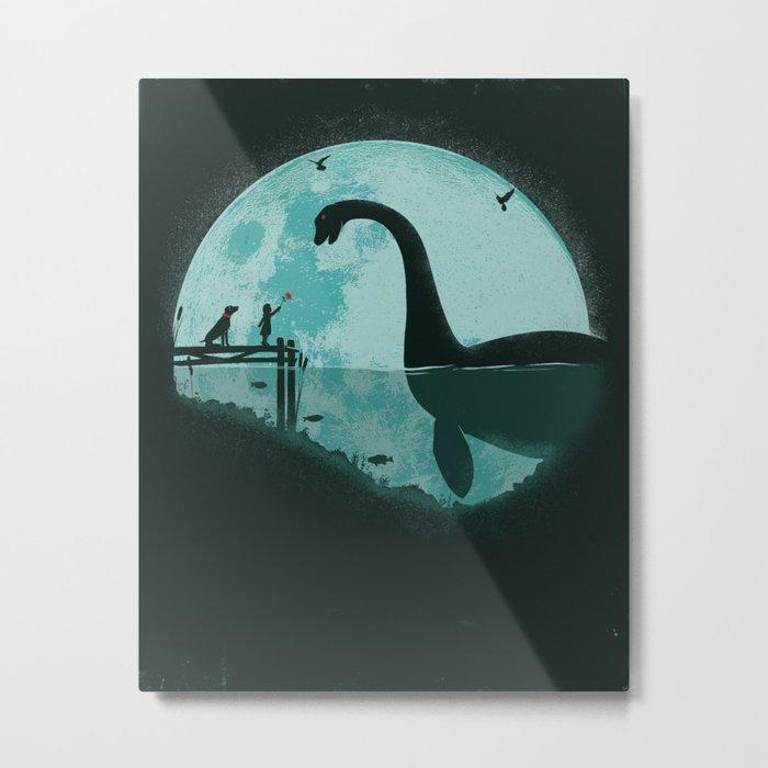 Encounter Under a Blue Moon Metal Print