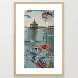 Moon Dive Framed Art Print