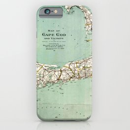 Cap Cod and Vicinity Map iPhone Case