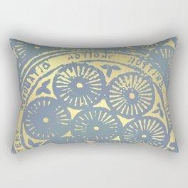 power of one: coal grey & gold Rectangular Pillow