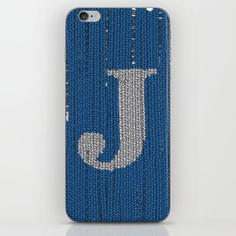 Winter clothes. Letter J II. iPhone Skin