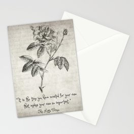 The Little Prince Rose Quote Stationery Cards