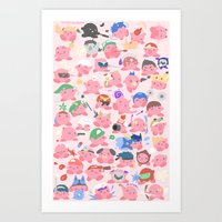 hats Art Prints featuring (SSB) Hats! Hats! Hats! by Crispy