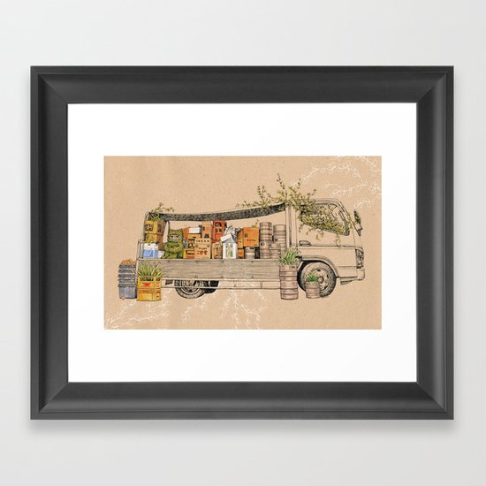 Green Invasion Framed Art Print