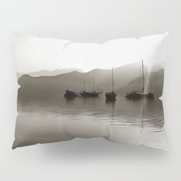 Gulets In Greyscale Pillow Sham
