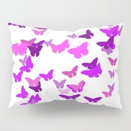 Purple Butterflies Pillow Sham