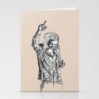 harry styles Stationery Cards featuring Harry Styles by Cécile Pellerin