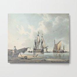 John Cleveley, Jun. (Deptford 1747-1786 Pimlico)  An offshore calm Metal Print