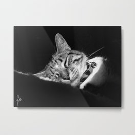 Leela Sleep Metal Print