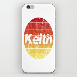 Name Keith in the sunset vintage sun iPhone Skin