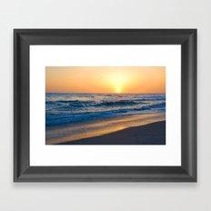 Ocean sunset 3 Framed Art Print