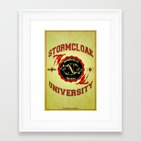 skyrim Framed Art Prints featuring Stormcloak University(Skyrim) by Chubbybuddhist