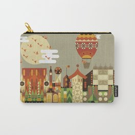 Hot air balloon ride trough the city Carry-All Pouch
