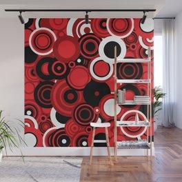 circles-red-black-white Wall Mural