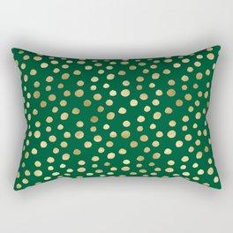 Beautiful Emerald and Gold Safari Patterns Rectangular Pillow