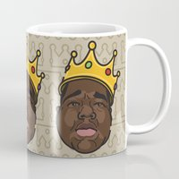 notorious big Mugs featuring Notorious by DollarsandCents