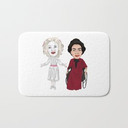 Whatever Happened to Baby Jane, Bette Davis, Joan Crawford Inspired Illustration Bath Mat