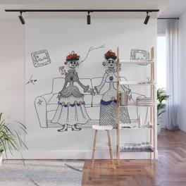 las dos fridas Wall Mural