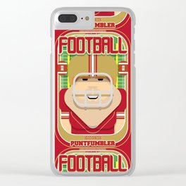 American Football Red and Gold - Enzone Puntfumbler - Josh version Clear iPhone Case