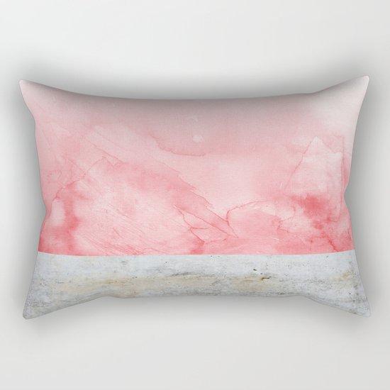 Concrete and Pink Rectangular Pillow