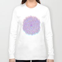 techno Long Sleeve T-shirts featuring Techno Flower by HayleyM
