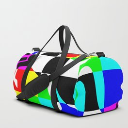 Chessboard Unicorn Remix 1 Duffle Bag