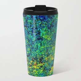 Abstract Flowers yellow and green Travel Mug