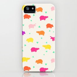 Hippo Party iPhone Case