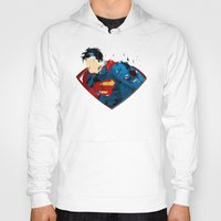 man of steel Hoodies featuring Man of Steel by ALmighty1080