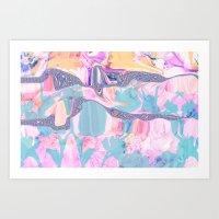 Melt & Flow Art Print