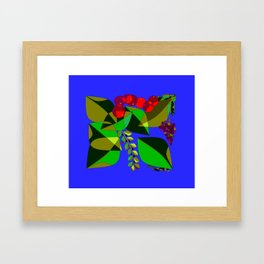 Traditional Pomegranates, Grapes and Olives Framed Art Print