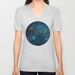 Star Map :: City Lights Unisex V-Neck