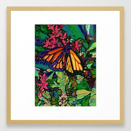 Monarch in the Garden Framed Art Print
