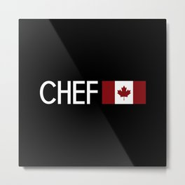 Chef (Canadian Flag) Metal Print