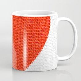 Heart Mosaic Triangles Coffee Mug
