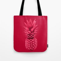pineapple Tote Bags featuring Pineapple by Simi Design