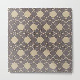 Beige Decorative Pattern Metal Print