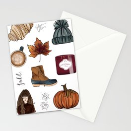 Fall Feelings Stationery Cards
