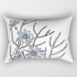 Flower Garden Abstract Art Design Rectangular Pillow