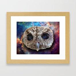 Cosmic Owl Framed Art Print