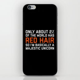 Red Hair Funny Quote iPhone Skin