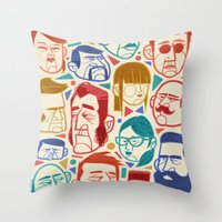 faces Throw Pillows featuring Faces by Lawerta