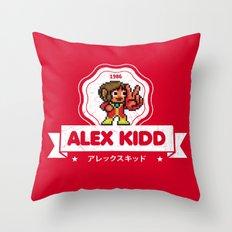Alex Kidd Throw Pillow